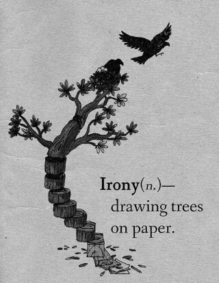drawing trees on paper